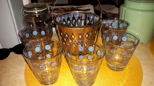 blue gold bar glasses